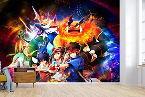 AJ WALLPAPER 3D Murals for Pokemon Pikachu 686 Japan Anime Tapeten Drucken Spiel Karikatur Wandgemälde Selbstklebend Tapete MXY DE Maze (gewebt Papier (Notwendigkeit Leim), 【 82 x58 】 208x146cm(BxH))