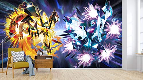 AJ WALLPAPER 3D Murals for Pokemon Pikachu 695 Japan Anime Tapeten Drucken Spiel Karikatur Wandgemälde Selbstklebend Tapete MXY DE Maze (gewebt Papier (Notwendigkeit Leim), 【123 x87 】 312x219cm(BxH))
