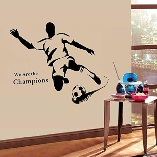 wandtattoo fu ball wandleuchte fussballvereine und fussballspieler. Black Bedroom Furniture Sets. Home Design Ideas