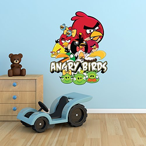 Wall Smart Designs Angry Birds Full Farbe Wandtattoo Aufkleber Mural Kids Schlafzimmer Transfer Print Graphic