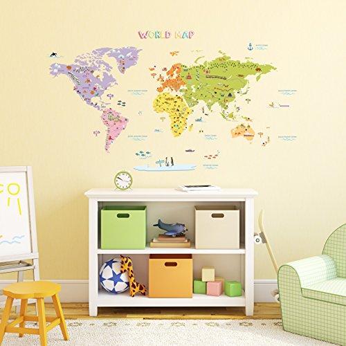Wandtattoo Weltkarte günstig kaufen