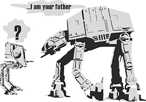 Thorpe Signs Stil Star Wars I Am Your Father Wandtattoo Vinyl Aufkleber Art Transfer 3 Größen Erhältlich, Large: 83cm x 58cm