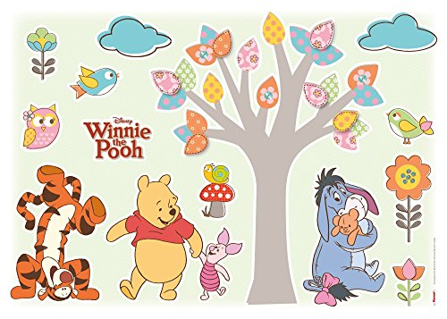 Komar   Disney   Deco Sticker NATURE LOVERS   50 x 70 cm , Wandsticker,, Wandbild, Puh   14014h, Bunt