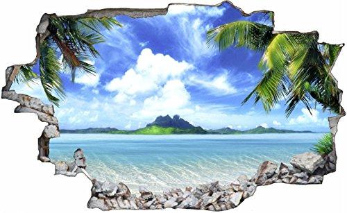 Wandtattoo palme - Badezimmer strand look ...