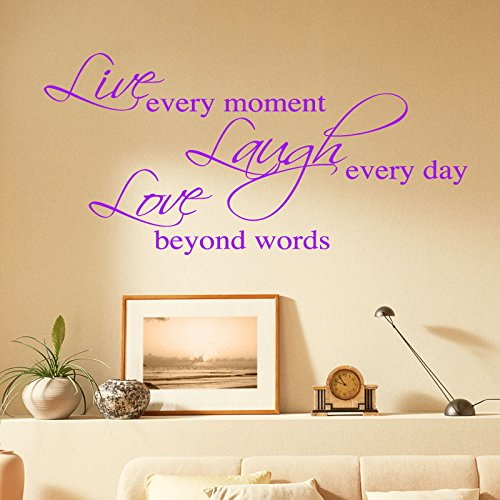 THE VINYL BIZ WALL STICKERS. Words/Quotes WANDAUFKLEBER WALL STICKER Decals