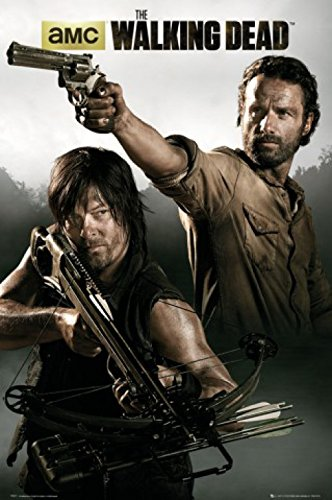 Set: The Walking Dead, Rick Grimes Und Daryl Dixon Poster (91x61 cm) Inklusive 1x 1art1® Collection Poster