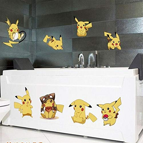 kmcsh % Cartoon Pokemon Poster Aufkleber Pokemon Gehen Pikachu Wandaufkleber Kinder Schlafzimmer Wandbild Wandtattoo Home Decor