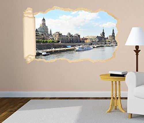 Wandtattoo Dresden Skyline Silhouette