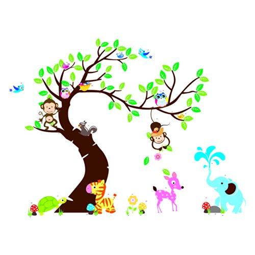 Besonderes Wandtattoo Affe - Äffchen im Baum