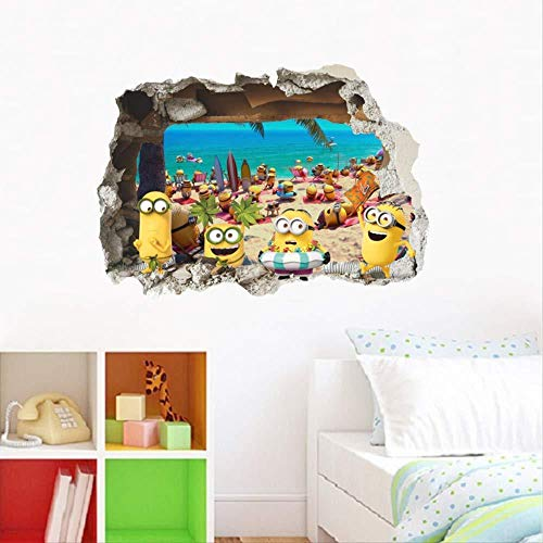SOLYY Wandtattoos Wall Stickers Cute Anime Movie Wall Stickers Children'S Room Decoration 3D Hole Mural Art Cartoon Pvc Poster Diy Decals