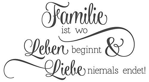 Wandtattoo Familie / Family Sprüche