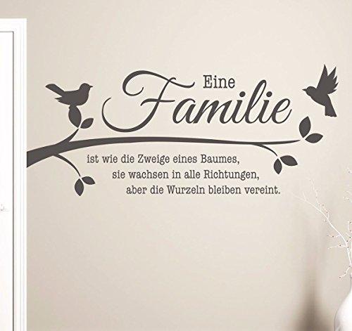 wandtattoo familie family spr che. Black Bedroom Furniture Sets. Home Design Ideas