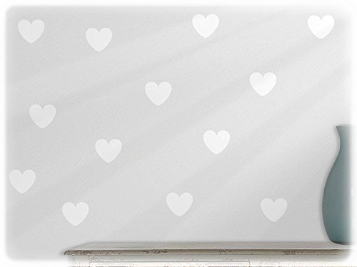 Delightful Wandfabrik 24 Schöne Herzen In Weiß Idea