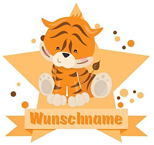 Samunshi/® Zebra Wandtattoo T/ürschild mit Name personalisierbar Kinderzimmer T/üraufkleber Baby Wandaufkleber in 9 Gr/ö/ßen 25x22cm Mehrfarbig