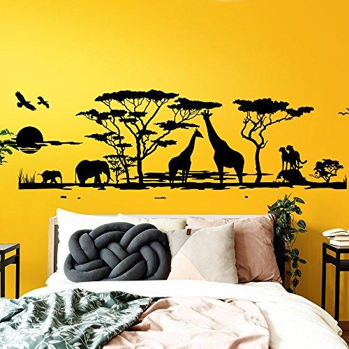 Wandtattoo elefant f rs kinderzimmer oder wohnzimmer - Wandtattoo afrika tiere ...