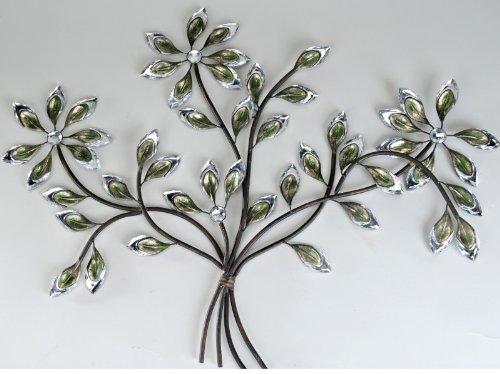 Wandtattoo zweig for Blumen aus rostigem metall