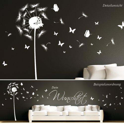 Schmetterling Mit Wunschtext / 49 Farben / 3 Größen / Weiß / 114 359