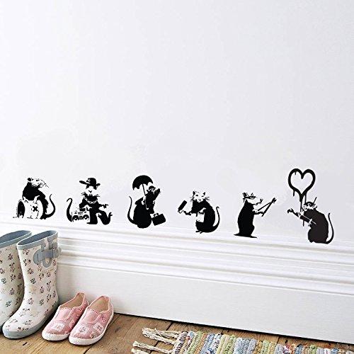 Ein Banksy Wandtattoo in der Wohnung begeistert