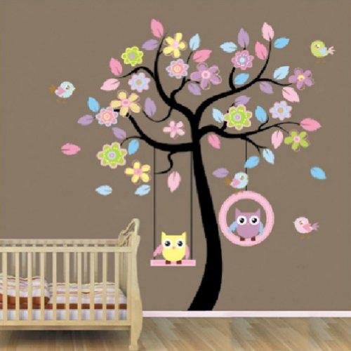 Kinderzimmer ideen für mädchen eule  Wandtattoo Eule auf Ast | Baum fürs Kinderzimmer oder Wohnzimmer