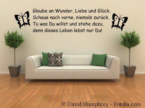 wandtattoo gl ck. Black Bedroom Furniture Sets. Home Design Ideas