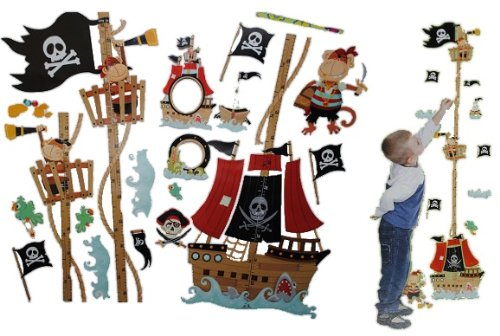wandtattoo pirat auf piratenschiff f rs kinderzimmer. Black Bedroom Furniture Sets. Home Design Ideas