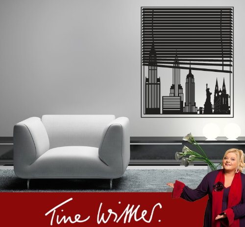 wandtattoo new york skyline. Black Bedroom Furniture Sets. Home Design Ideas
