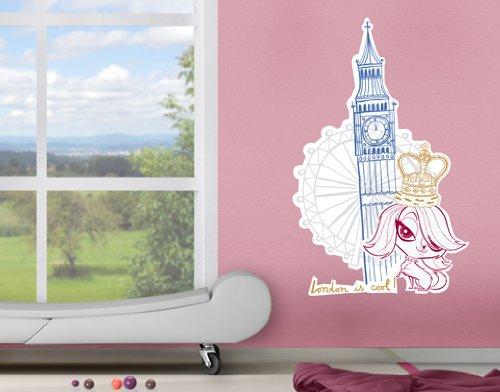wandtattoo london skyline big ben london eye. Black Bedroom Furniture Sets. Home Design Ideas
