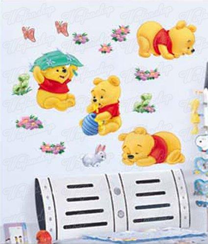 Winnie pooh wandtattoo klein oder xxl for Deko sticker kinderzimmer