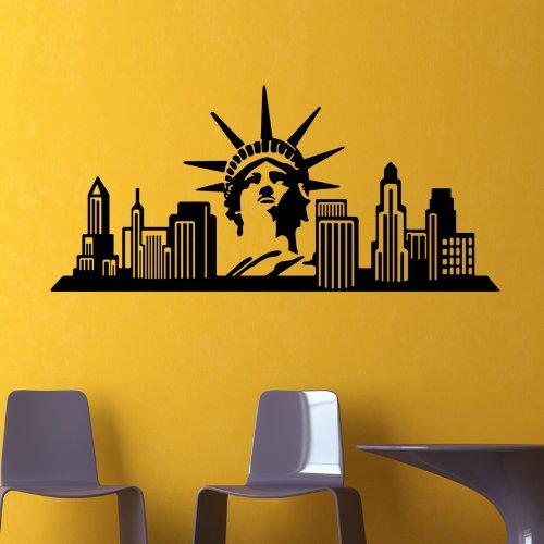 wandtattoo new york skyline. Black Bedroom Furniture Sets. Home Design Ideas