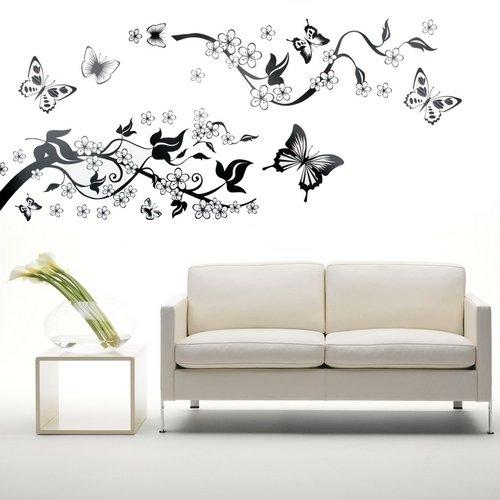 Wandtattoo schmetterling 3d oder einzeln for Mural de flores y mariposas