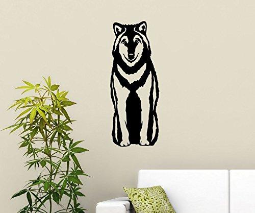 wandtattoo wolf. Black Bedroom Furniture Sets. Home Design Ideas