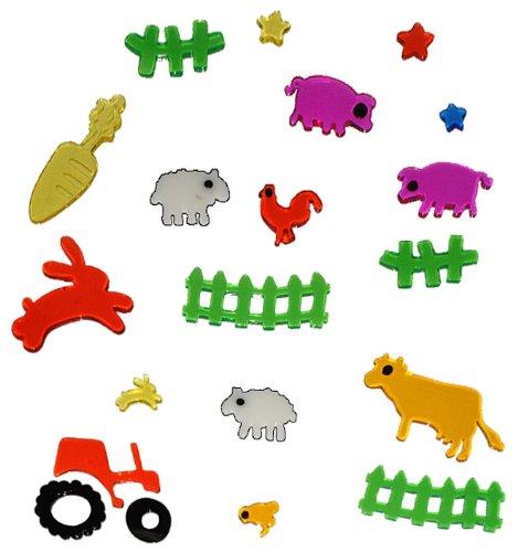 tlg. Set Gel Sticker / Aufkleber / Wandtattoo / Fensterbild - Traktor ...