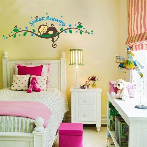 besonderes wandtattoo affe ffchen im baum. Black Bedroom Furniture Sets. Home Design Ideas