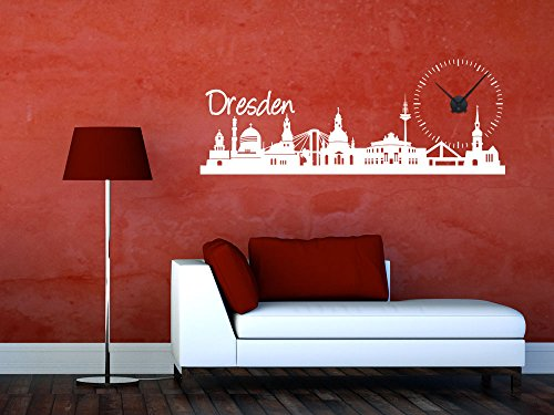 wandtattoo dresden skyline silhouette. Black Bedroom Furniture Sets. Home Design Ideas