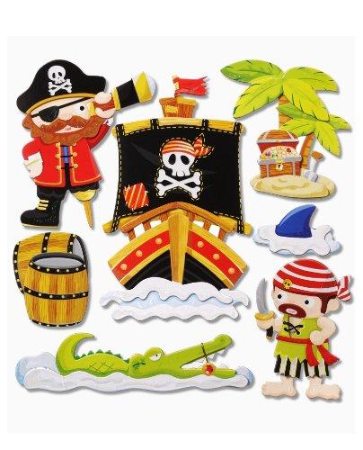 ... Sticker XXL Wandtattoo Kinderzimmer Wandsticker - niedliche Piraten II