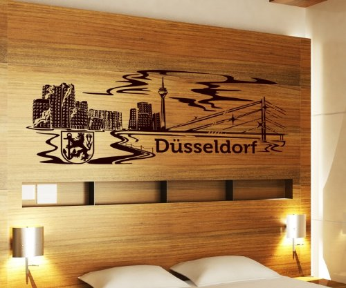 besondere wandtattoos d sseldorf skyline. Black Bedroom Furniture Sets. Home Design Ideas