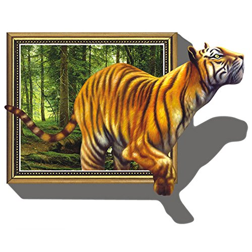 Wandtattoo tiger liegend oder laufend for 3d wandtattoo schlafzimmer