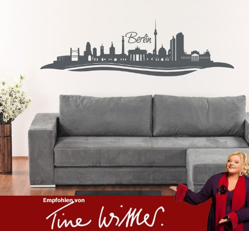 wandtattoo berlin skyline mit fernsehturm. Black Bedroom Furniture Sets. Home Design Ideas