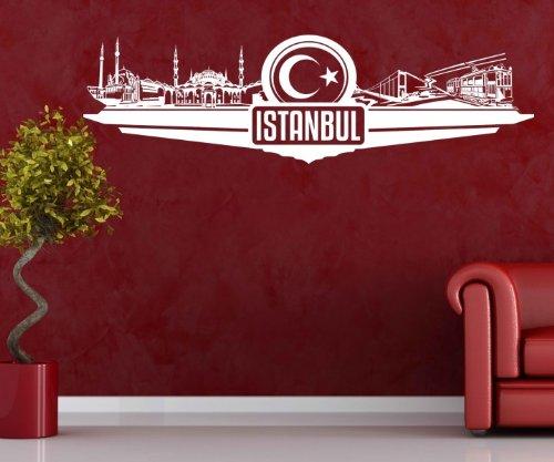 besonderes wandtattoo istanbul mit skyline