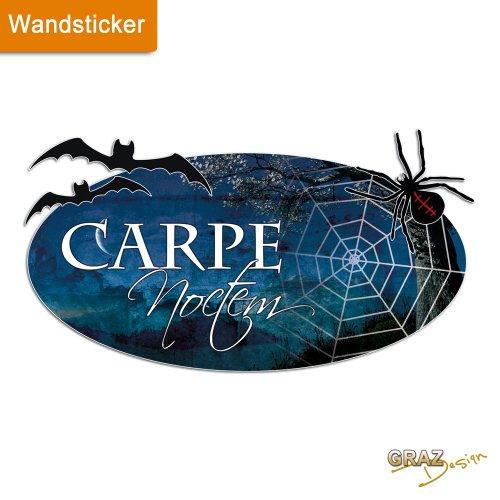 Wandtattoo carpe noctem for Wandsticker schlafzimmer