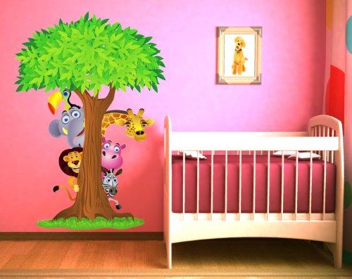 Wandtattoo dschungel den regenwald im wohn oder kinderzimmer - Wandtattoo dschungel baum ...