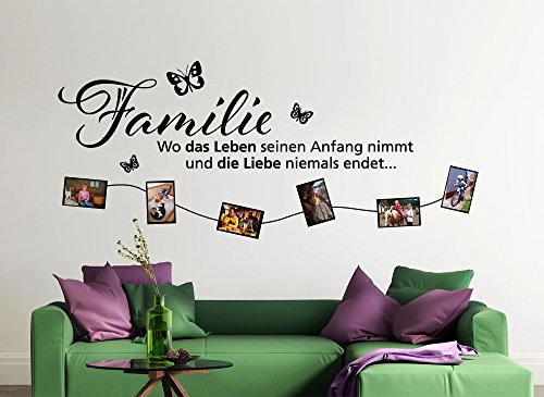 wandtattoo familie family spr che. Black Bedroom Furniture Sets. Home Design Ideas