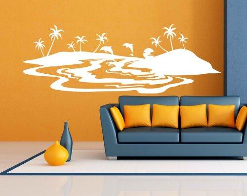 wandtattoo delfin f r bad oder kinderzimmer. Black Bedroom Furniture Sets. Home Design Ideas