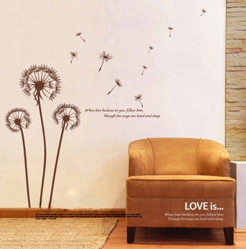 fuloon neue blumen fr wohnzimmer 200cm180cm wandaufkleber wohnzimmer pusteblume kinderzimmer - Wandtattoo Wohnzimmer Blumen