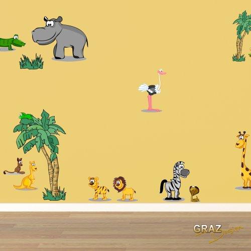 Wandtattoo zebra for Kinderzimmer zoo