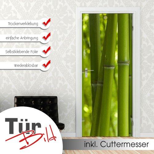 Wandtattoo bambus pflanzen wandsticker for Pflanzen deko wand