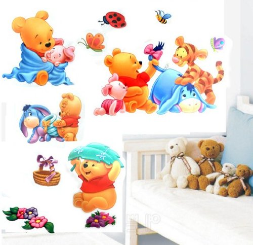 wandtattoo winnie pooh und seine freunde. Black Bedroom Furniture Sets. Home Design Ideas