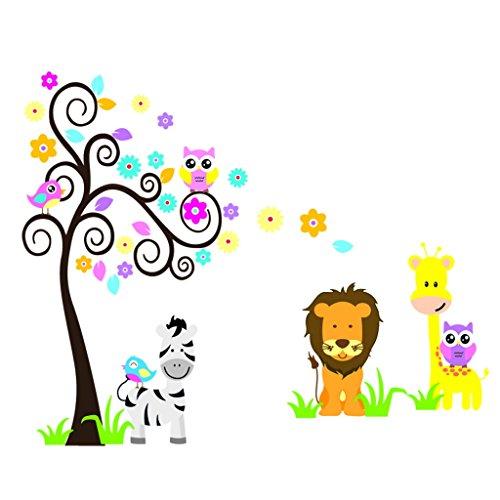 Wandtattoo giraffe f r kinder oder wohnzimmer - Jungle wandtattoo ...