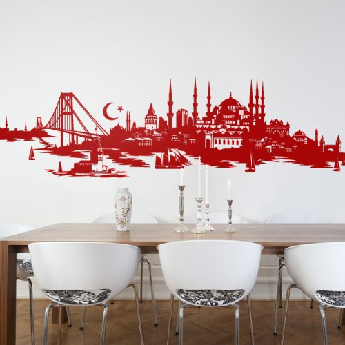 besonderes wandtattoo istanbul mit skyline. Black Bedroom Furniture Sets. Home Design Ideas