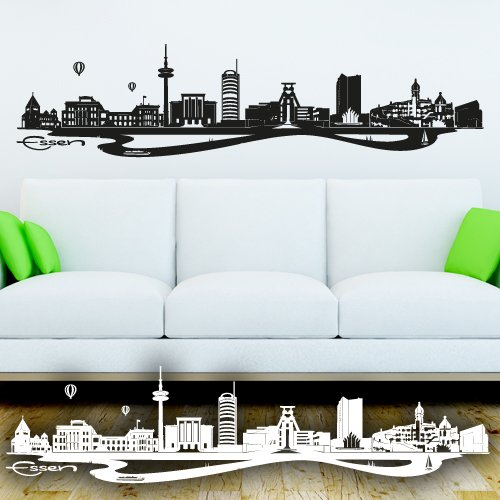 wandtattoo ruhrgebiet skyline. Black Bedroom Furniture Sets. Home Design Ideas